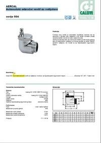 Automatski odzračni ventil za radijatore