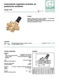 Automatski regulator protoka sa podesivim uloškom
