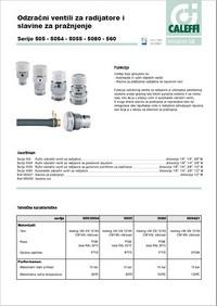 Odzračni ventili za radijatore i slavine za pražnjenje