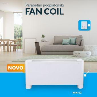 Parapetno podplafonski uređaj   FAN COIL RKH2-V-R3